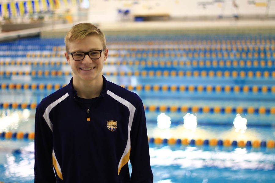 Grant Williams '17 took first  in diving at the Boys  Swim & Dive Division III State Championships.