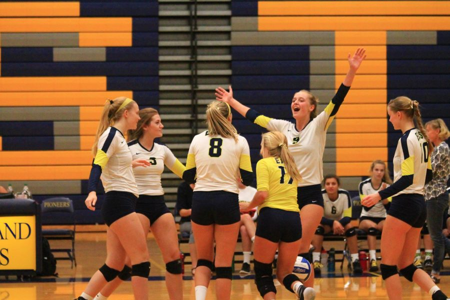 Girls volleyball matches competition in new conference