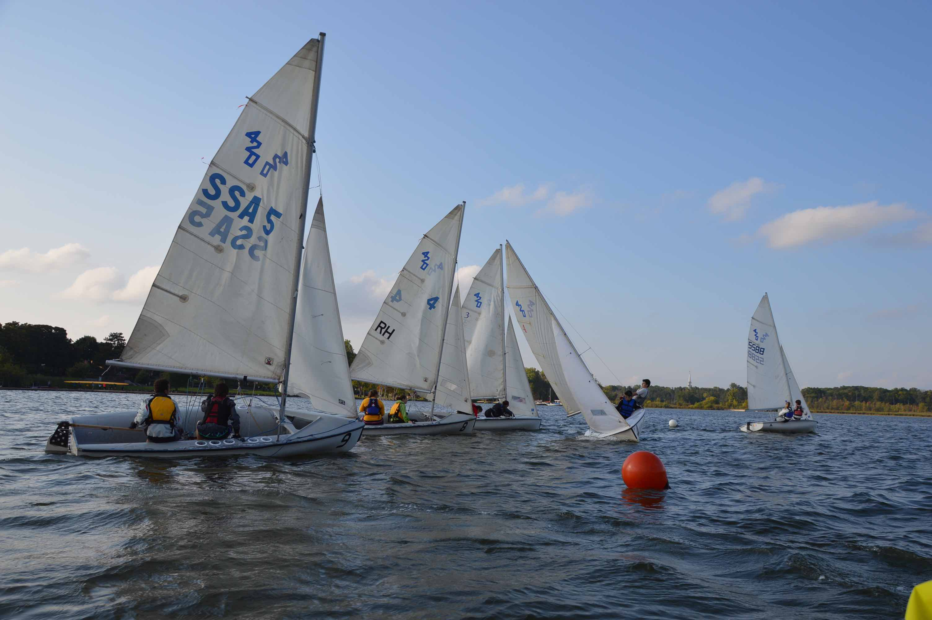 EGR Sail team competing in the fall 2014.