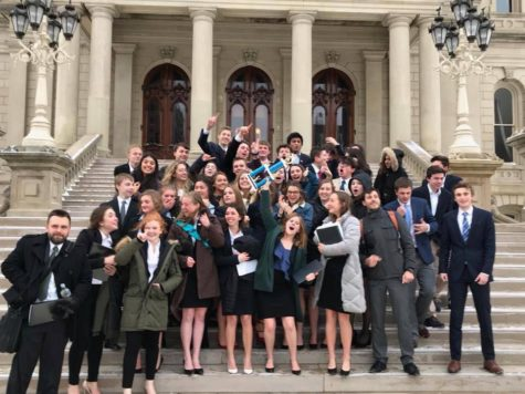 Model UN team debuts first conference at East Grand Rapids High School