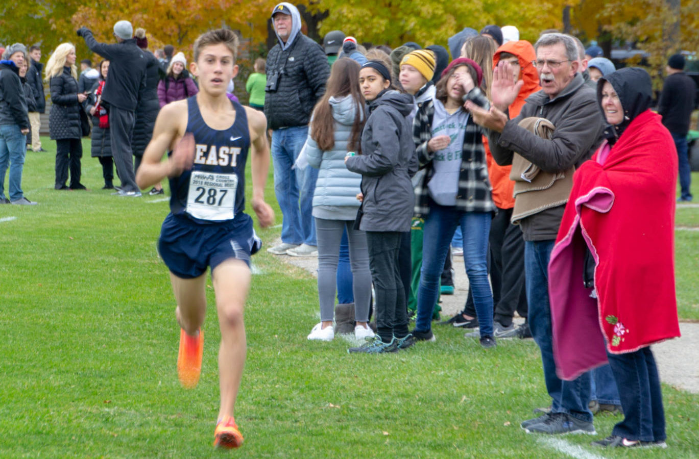 Evan Bishop '20 broke the boys cross country school record (which was also his own record) six times.