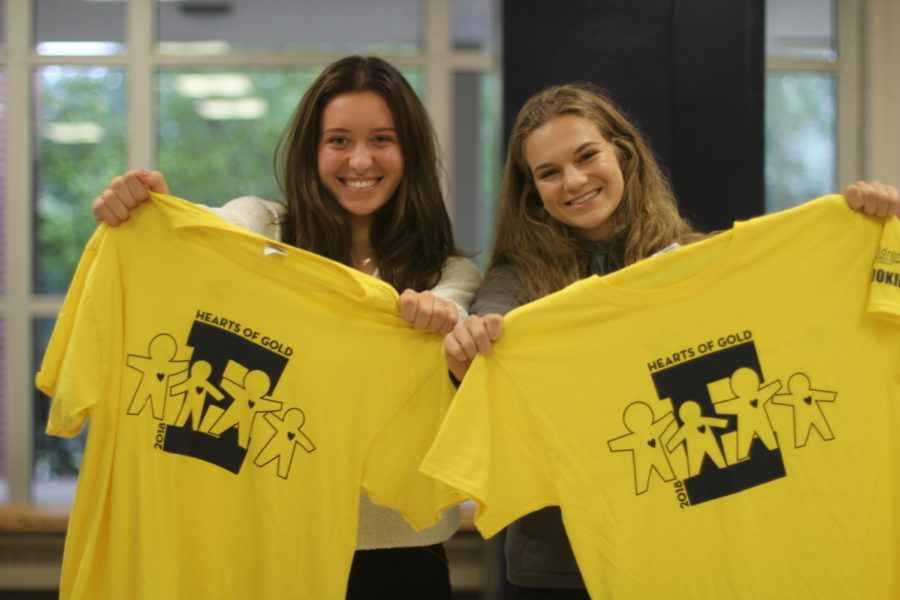 Volunteers sold Hearts of Gold T-shirts during lunch.