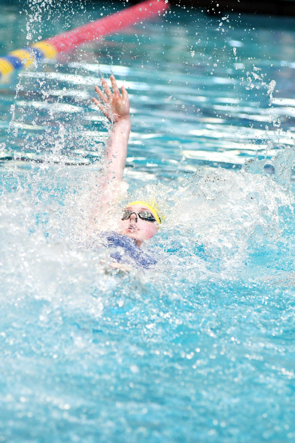 Ranked 35th in the state, Laura Levine '19 is a major contributor to the swim team.
