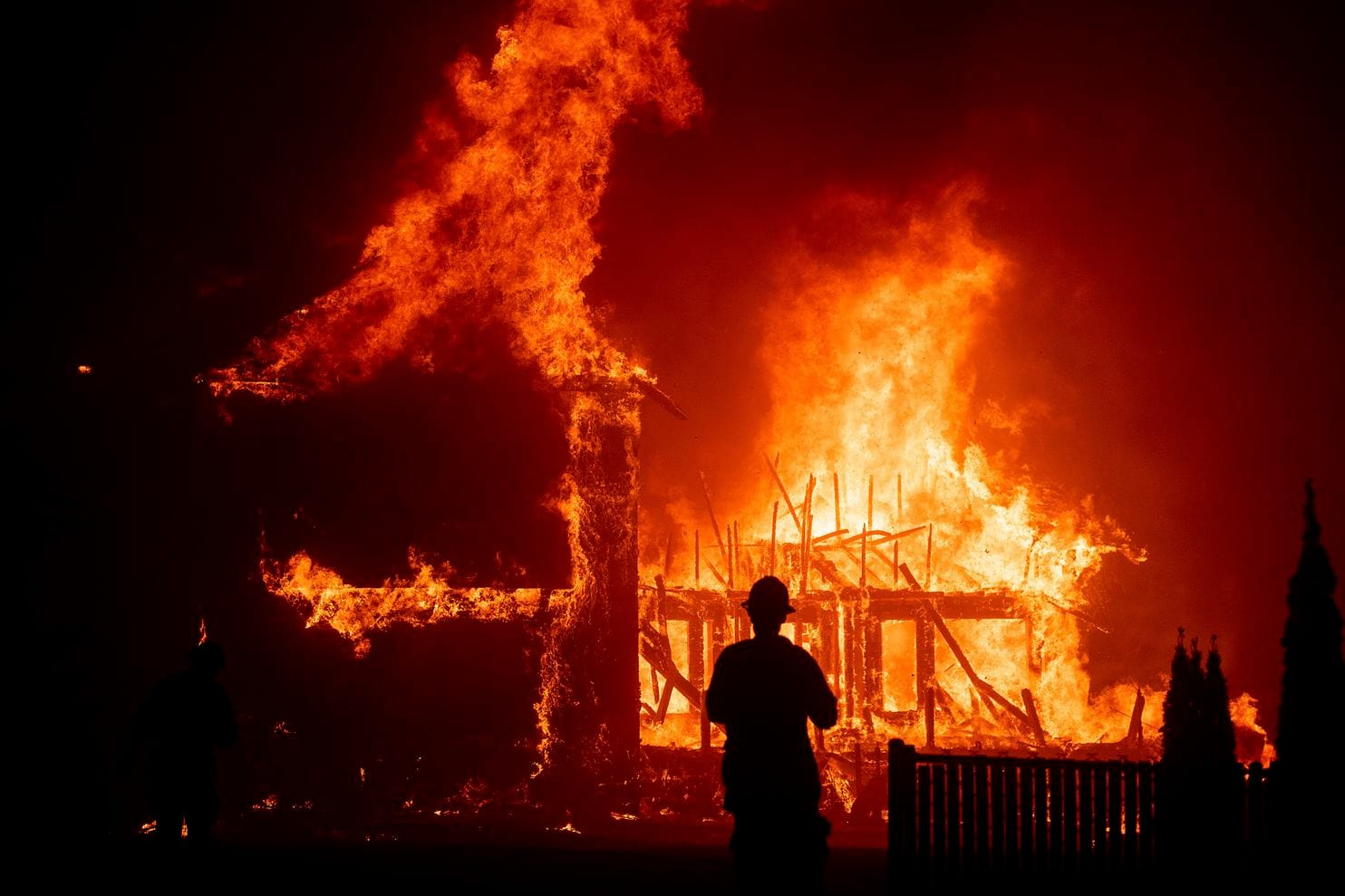 The Camp Fire in Paradise, California as captured by the Washington Post.