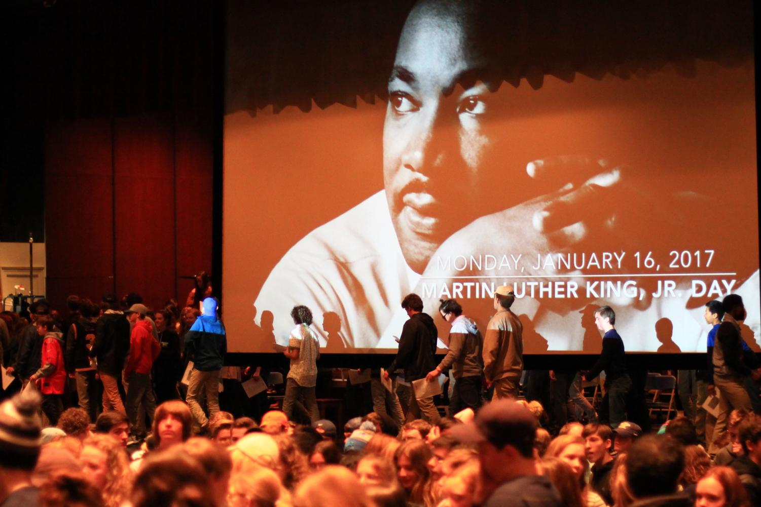 Martin Luther King Day is remembered by many students for its assembly. This year is the first year that it's been off.