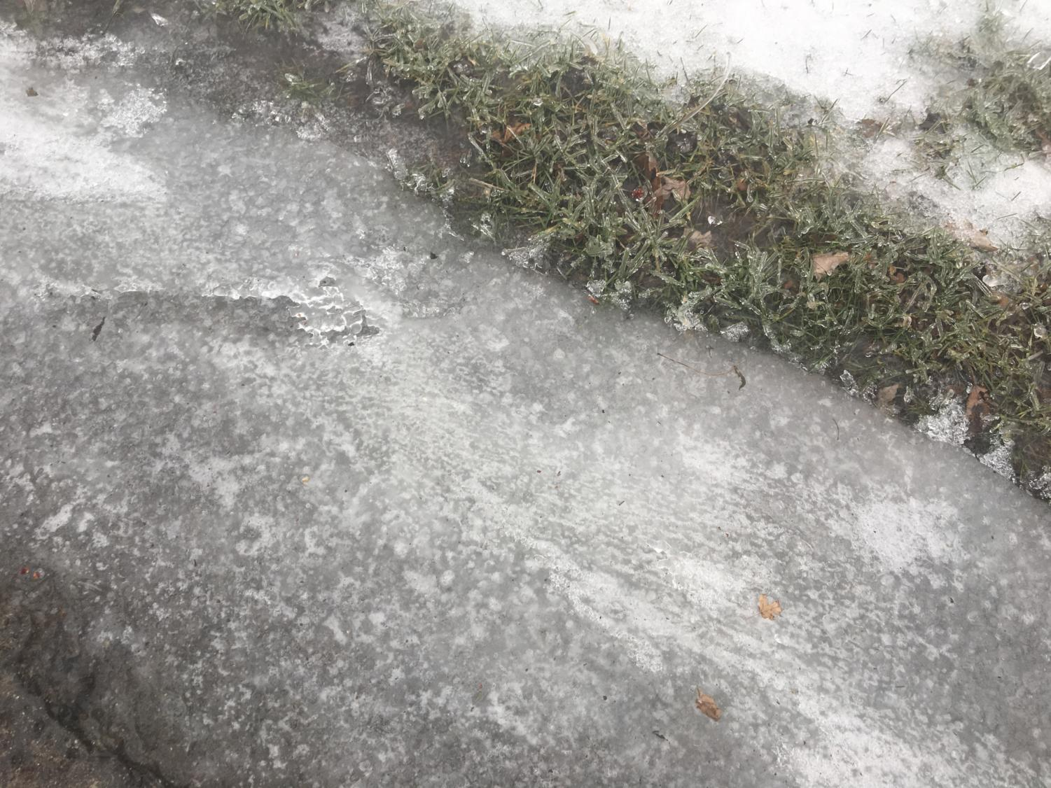 Icy weather conditions can be dangerous for those commuting to and from school.
