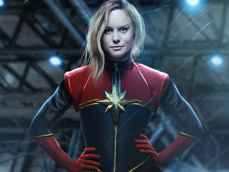 Brie Larson as Carol Danvers a.k.a. Captain Marvel.