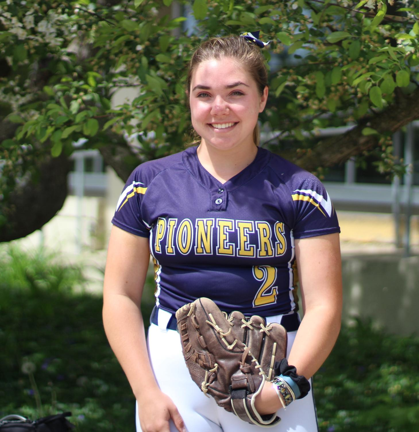 Bridget Hollen, one of the senior Varsity members of the softball team.