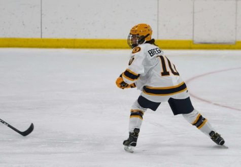 Bregenzer on the ice during recent game at Patterson Ice Arena
