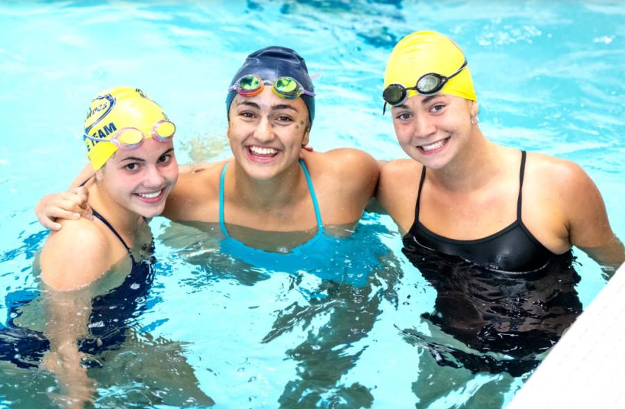 photo courtesy of Dave Chandler Pictured left to right: Allison Alguire '23, Ella Gjorgjevski '22, and Sophie Williams '22