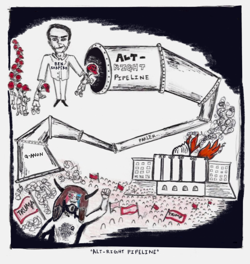 "Editorial Cartoon: ""Alt-Right Pipeline"""